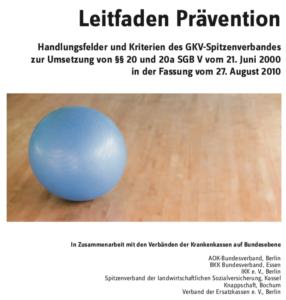 Yoga Krankenkassen Augsburg Titelseite Leitfaden Prävention